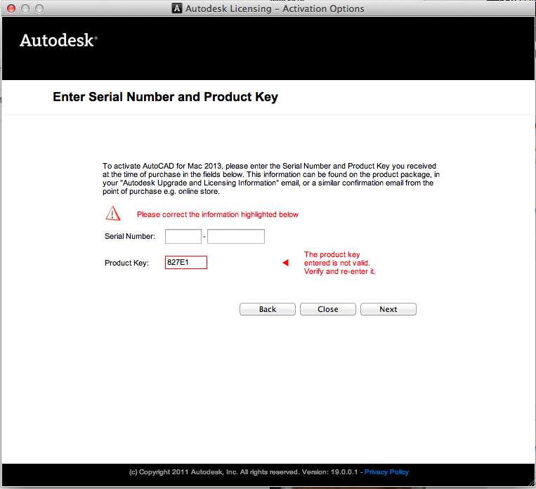 free autocad serial number and product key 2012