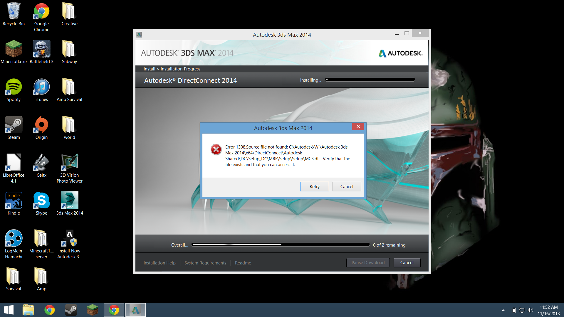 Direct connect 2014 install error when installing 3ds max 2014 autodesk community