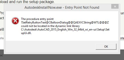 Can't install Autocad 2015 Trial - Autodesk Community
