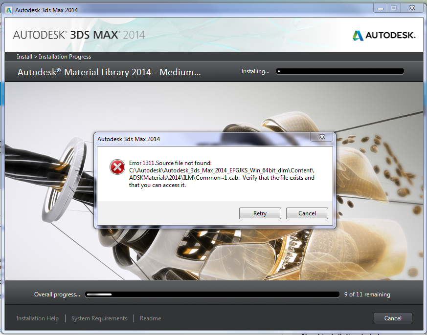 error 1311 3ds Max 2014 - Autodesk Community- Installation and Licensing