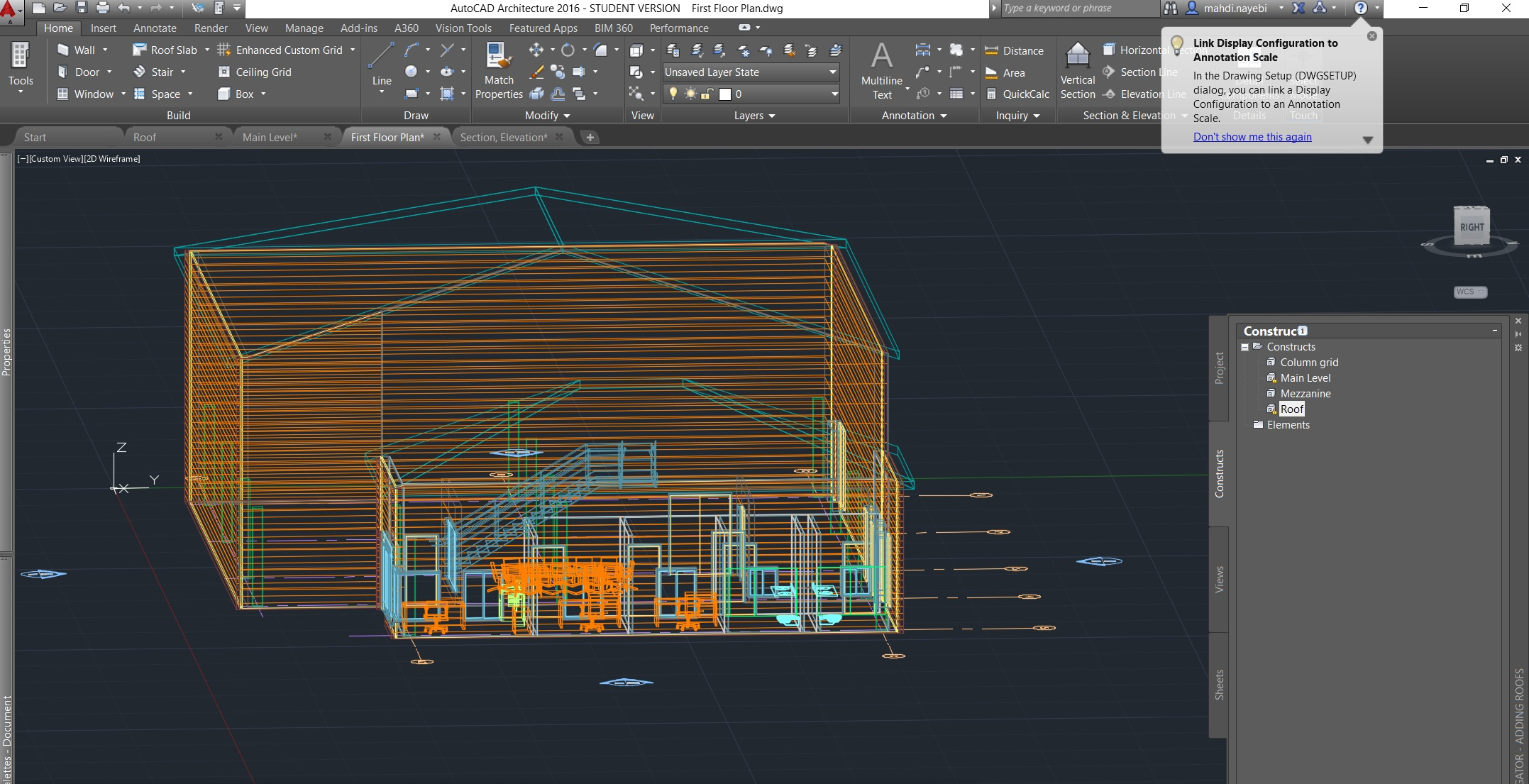 Missing A Line And Hatch In My Elevation Autodesk Community Autocad Architecture