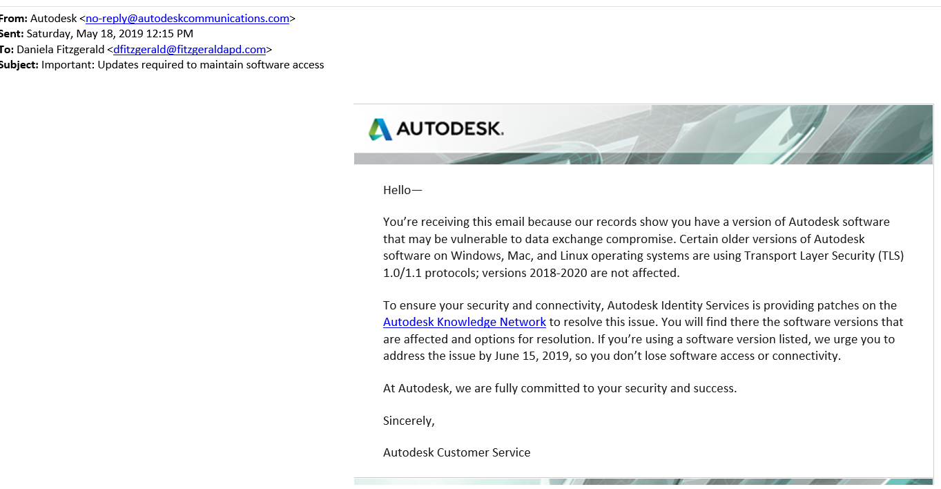 Is this a Phishing message, or is it legit? - Autodesk Community