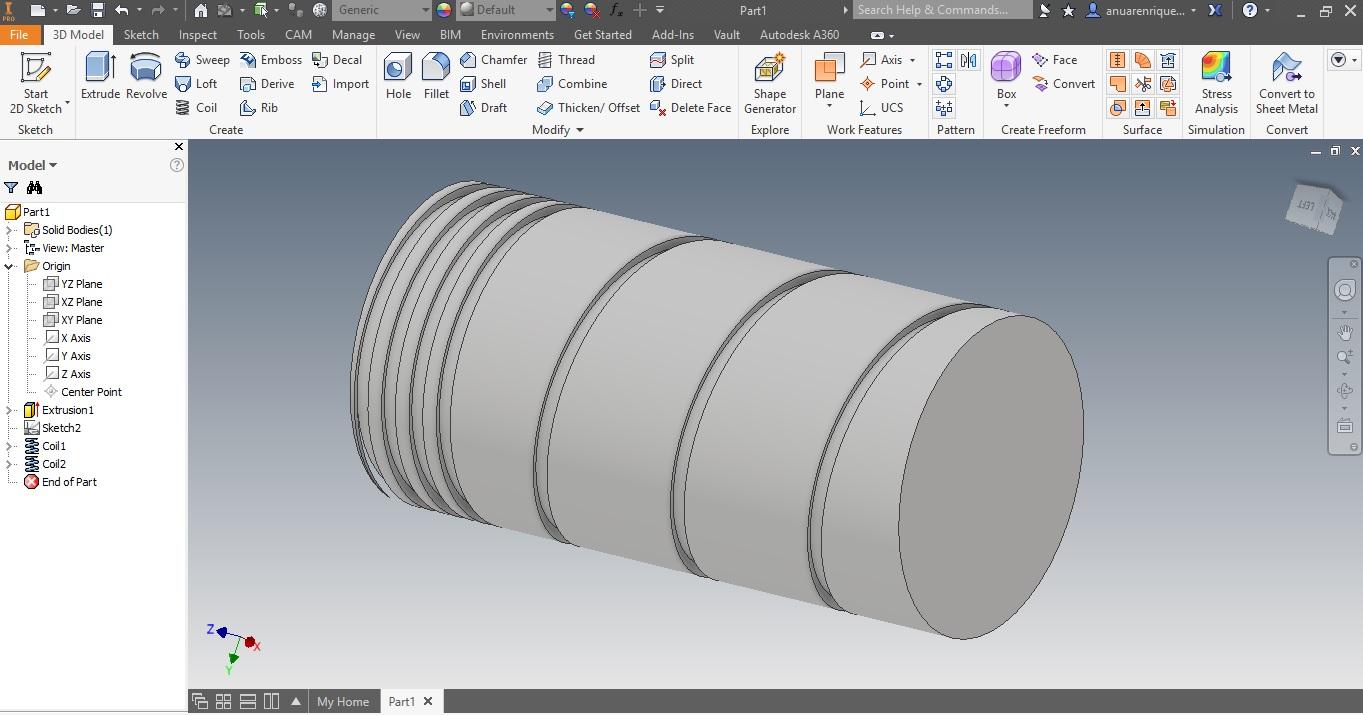 Diseño De Husillo Sinfin En Inventor Autodesk Community