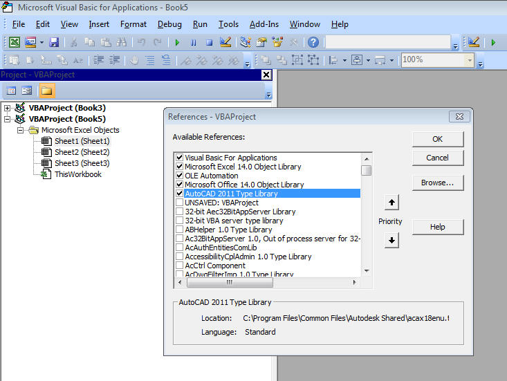 Excel VBA to extract attrubutes from AutoCAD 2014 - Autodesk