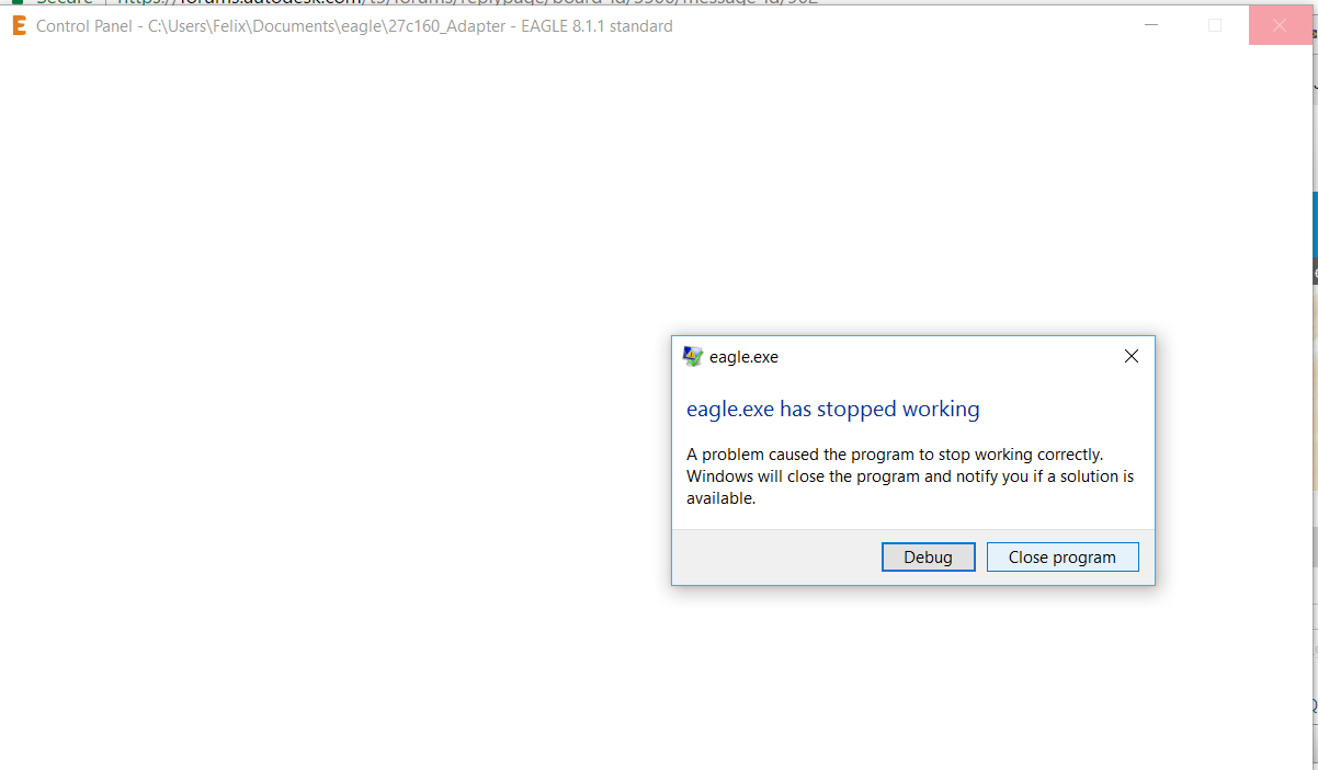 Solved: eagle.exe has stopped working - Page 3 - Autodesk Community