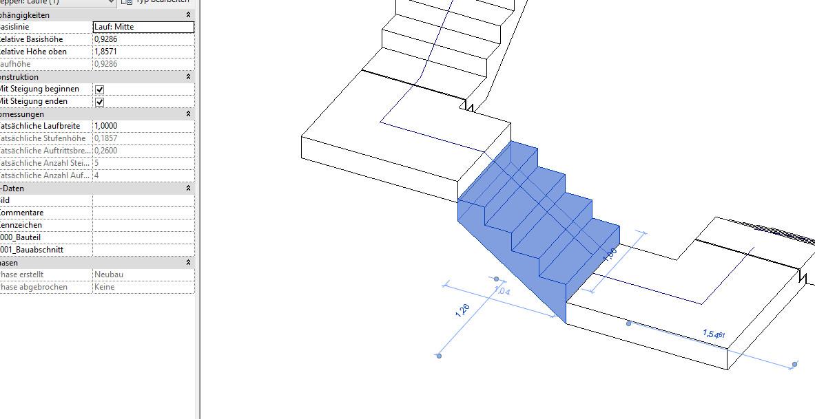 Gelost Treppe Mit Verschieden Laufdicken Als Eine Treppe Autodesk