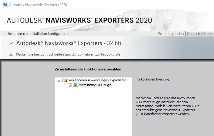 Navisworks Exporters 2020  Still no 64bit for MicroStation
