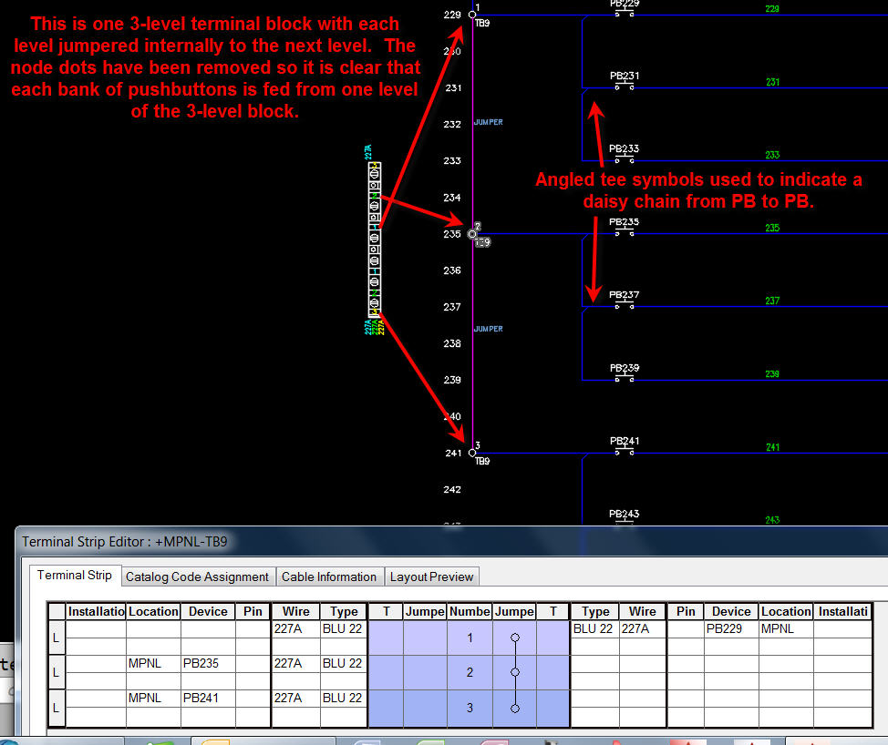 Internal Jumpered Multi Level Terminals And Tses Dynamic Count E Plan Electrical Autodesk Community Autocad