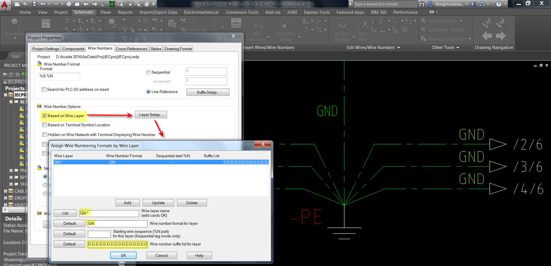 Autocad Electrical Automatic Wire Numbers Wiring Diagram In Auto Assigning The Same Number For All Ground Wires Autodesk Vector