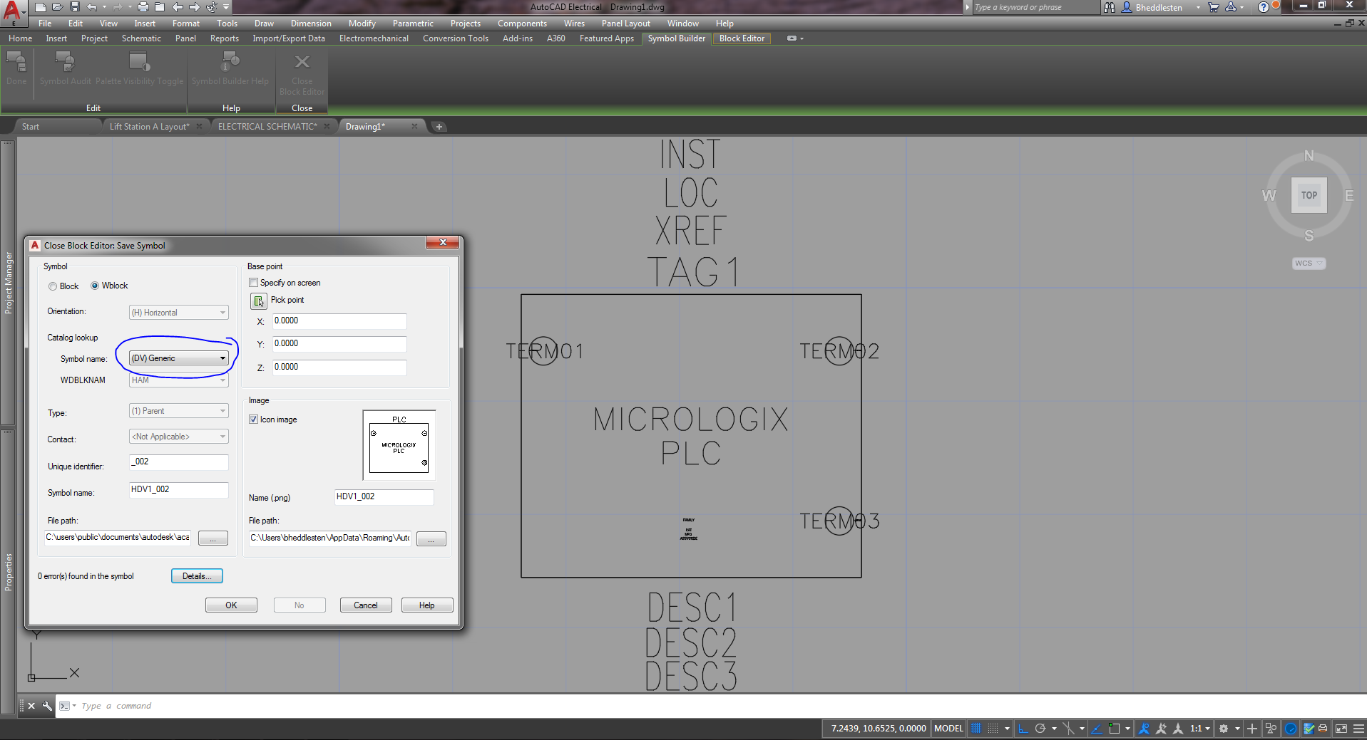 Solved Plc Schematic Symbol Name Autodesk Community Autocad Electrical Drawing Symbols App