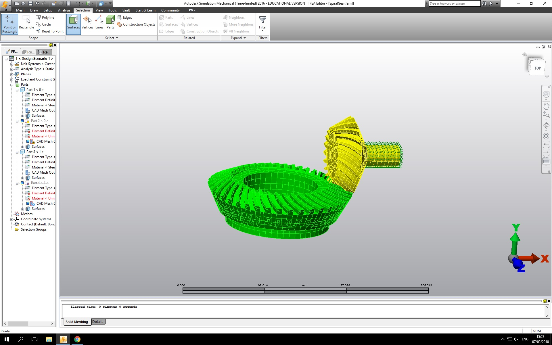 How To Perform Correct Stress Analysis On Spiral Bevel Gear Autodesk Community Simulation Mechanical