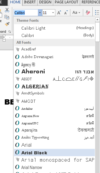 Font Preview from drop down list - Autodesk Community