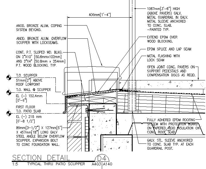 Waterproof Roof Deck Detail ...