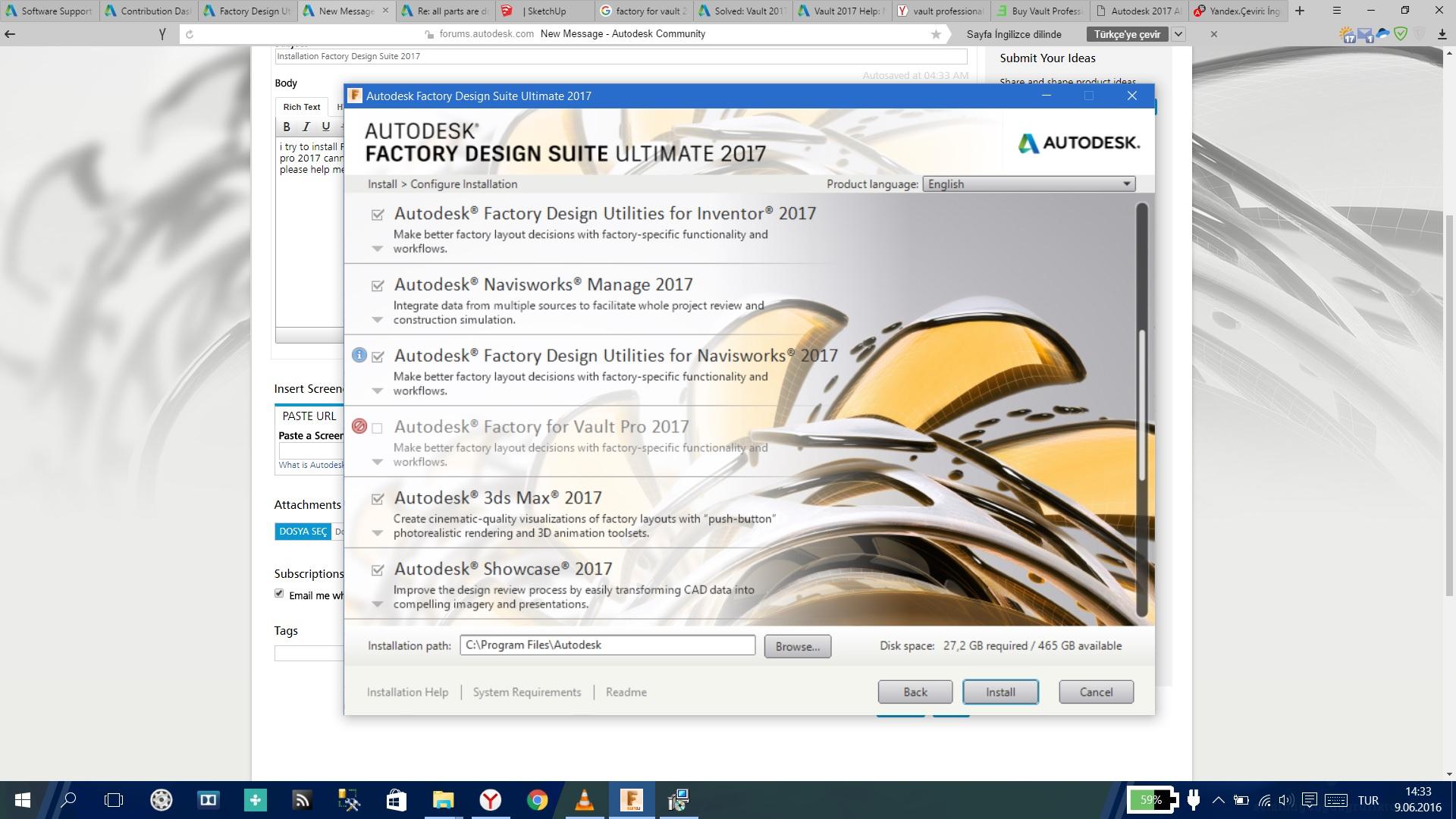 Installation Factory Design Suite Ultimate 2017 Autodesk Community Factory Design Utilities