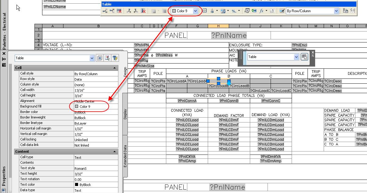 Panel Schedule fill color - Autodesk Community
