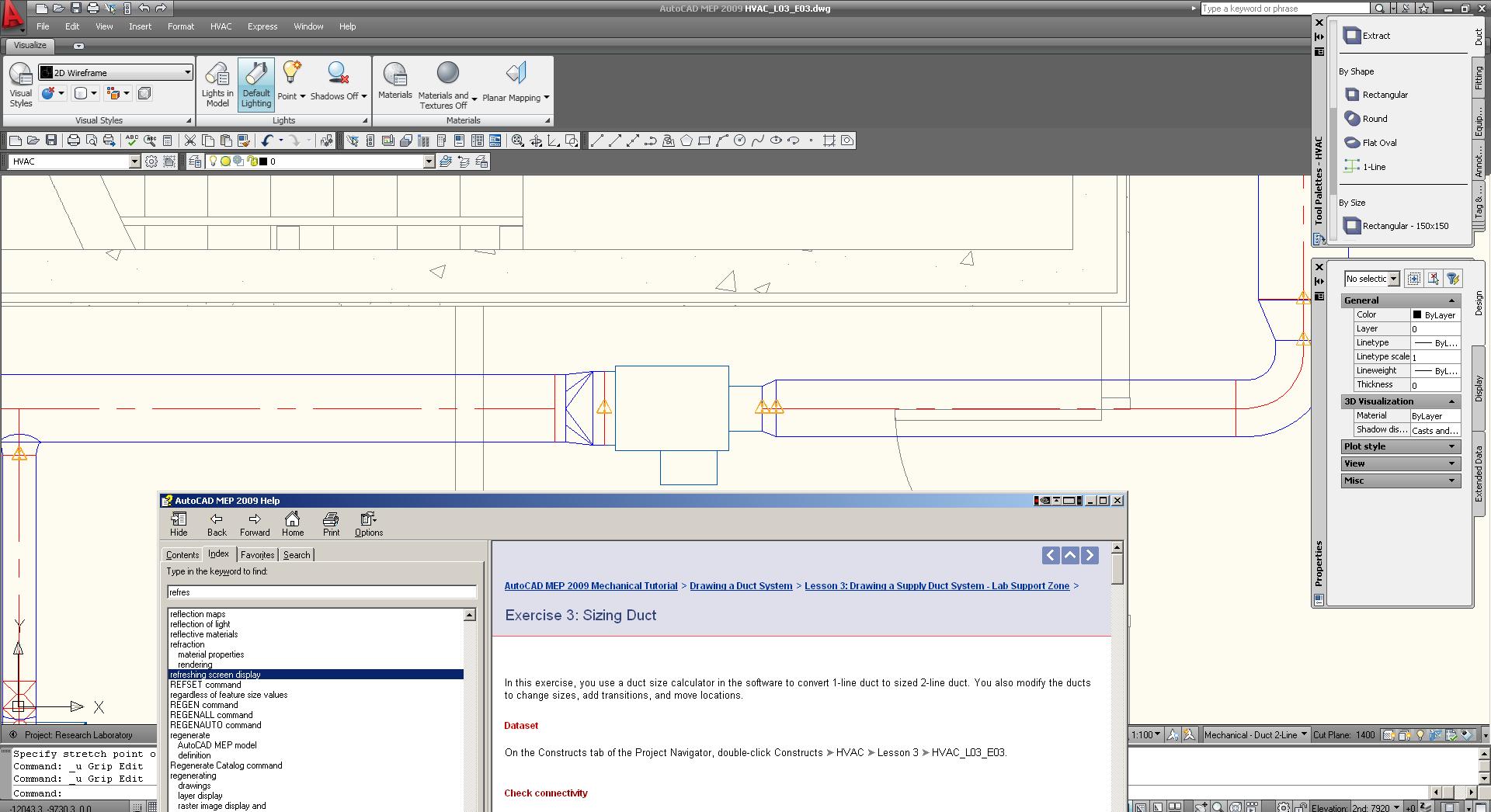 Mep 2009 Tutorials Autodesk Community Autocad Hvac Drawing In