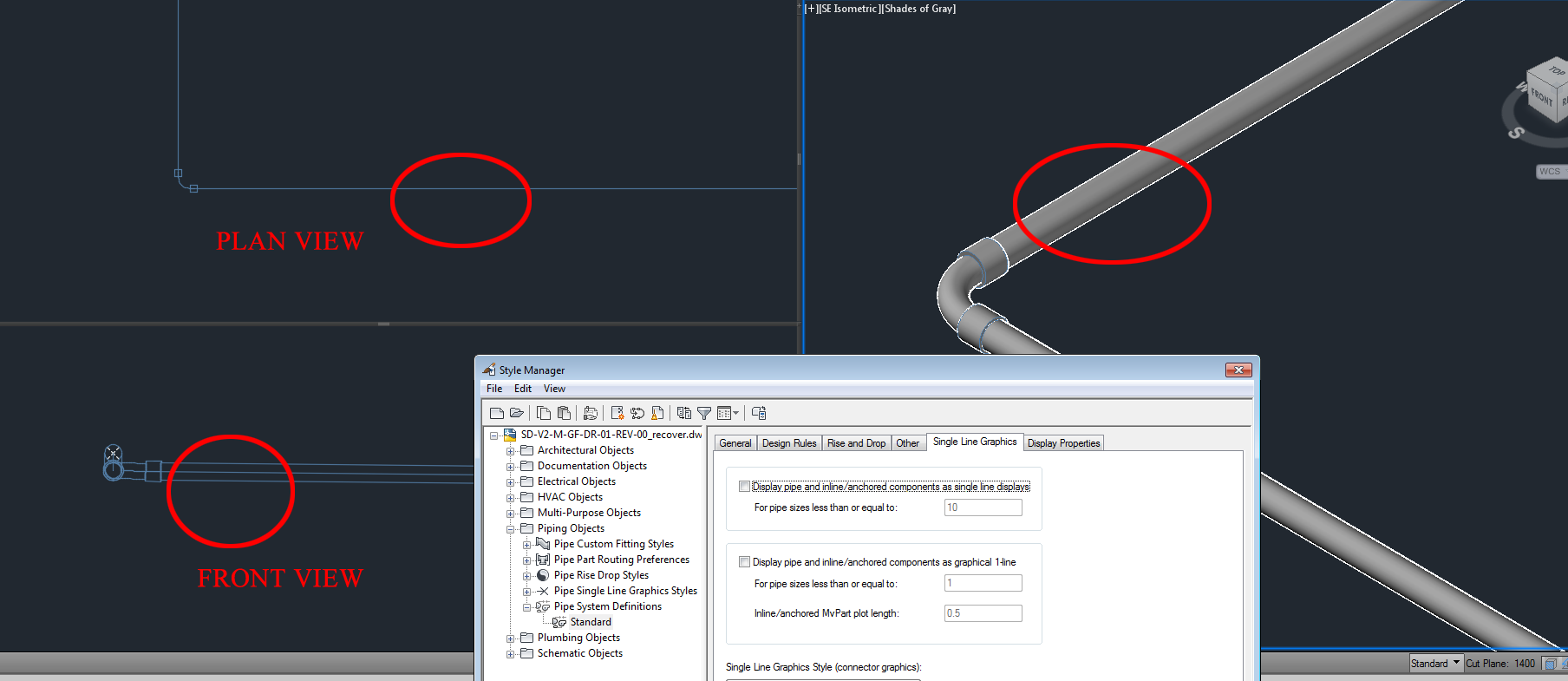 Solved: Double line pipe not showing up - Autodesk Community