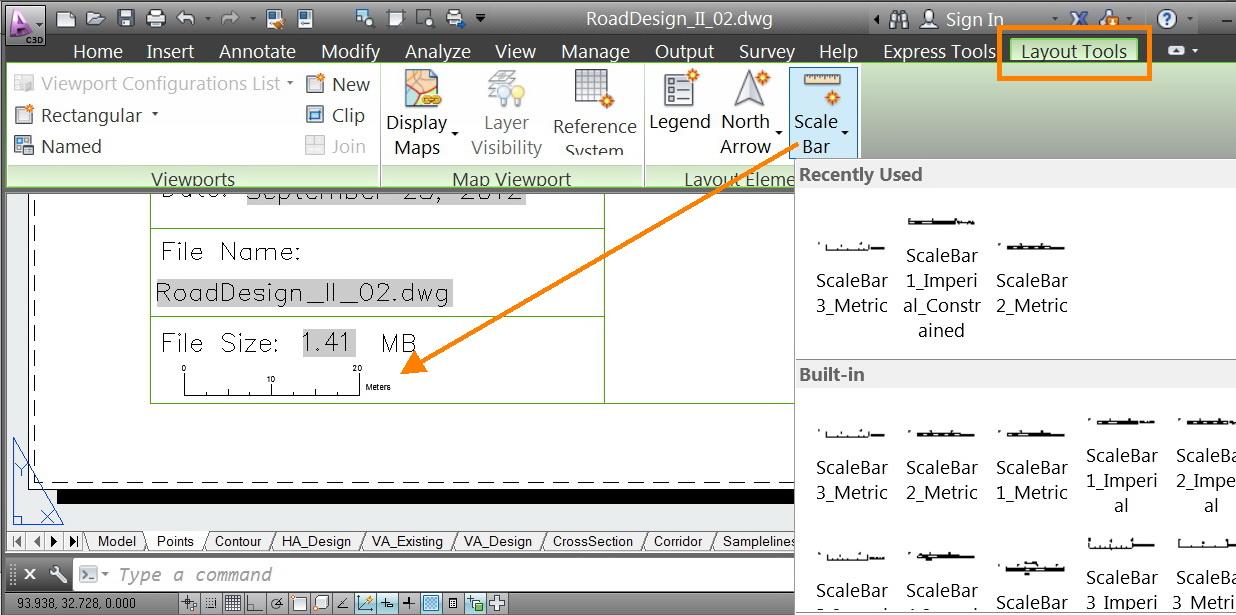 Dynamic Scale Bar in 2013 - Autodesk Community- Civil 3D