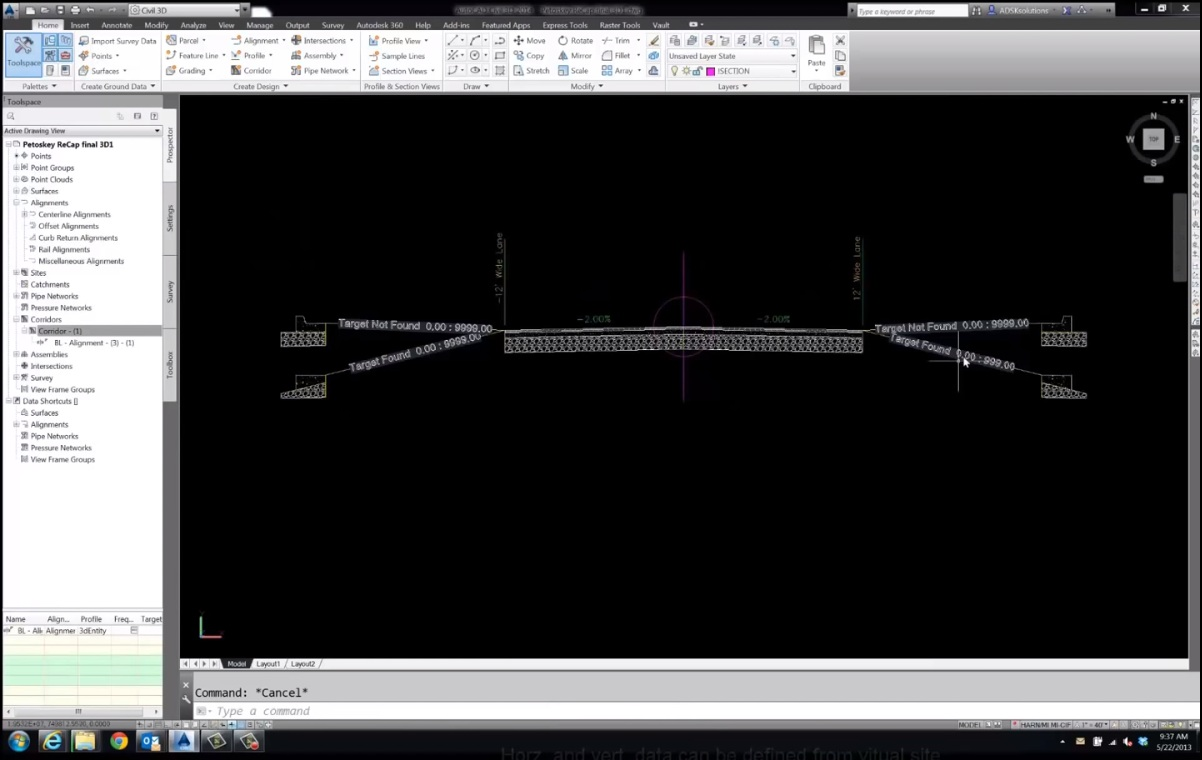 Creating A Road Section From A Point Cloud In Civil 3d Autodesk Community Civil 3d