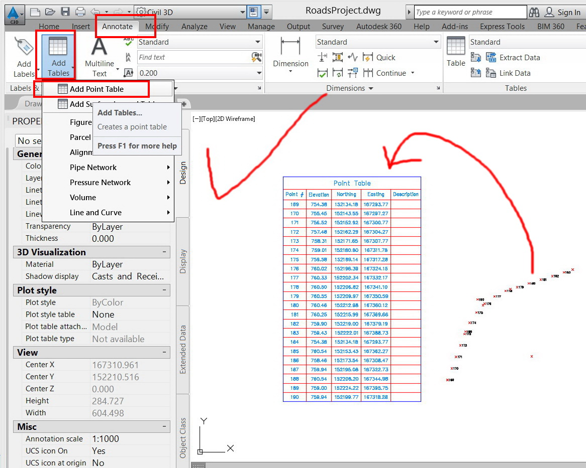 Solved: Listing the XYZ coordinates of points in a table, - Autodesk