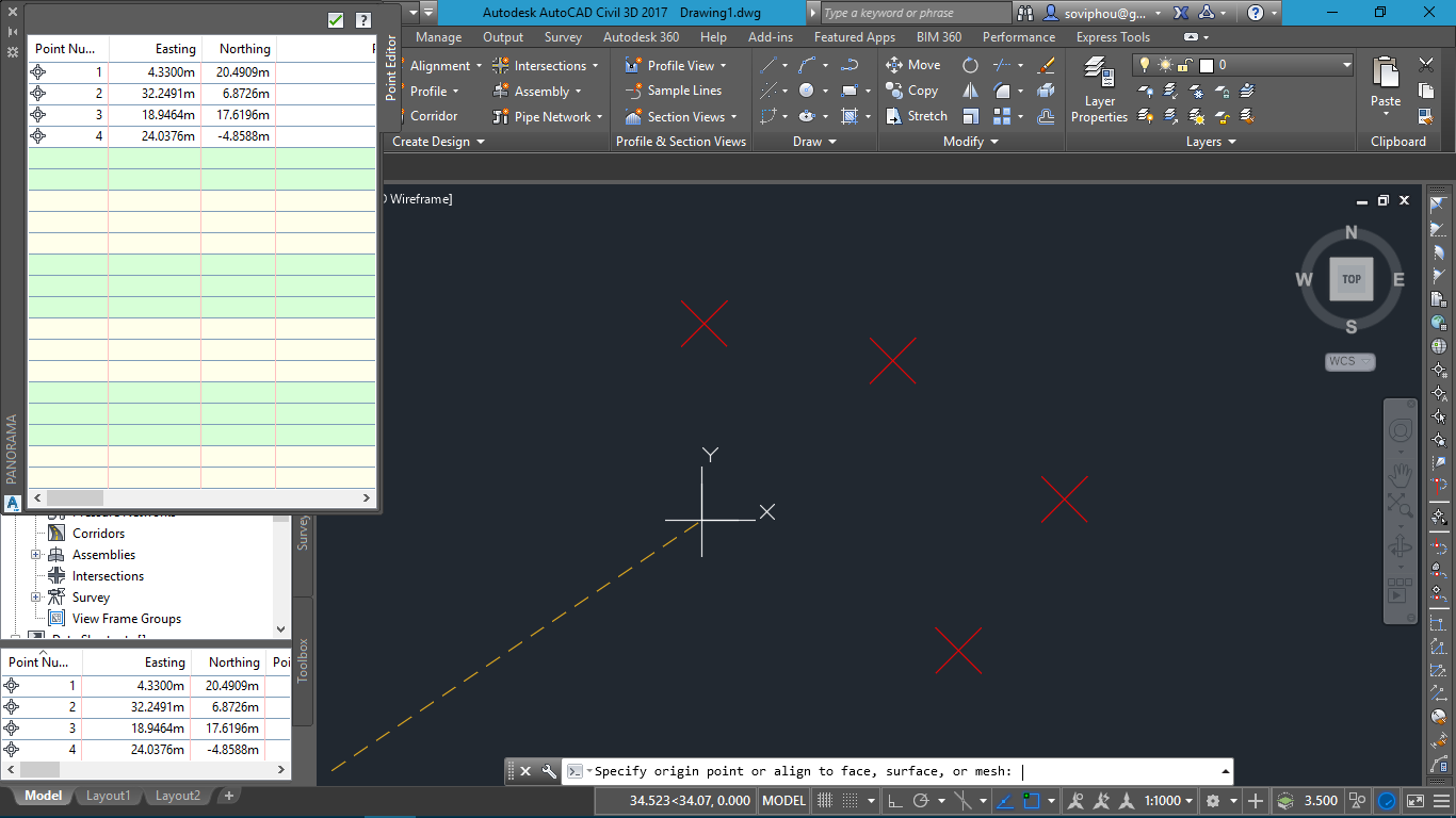 Drawing Lines In Autocad Using Coordinates : Solved points origin coordinate point autodesk community
