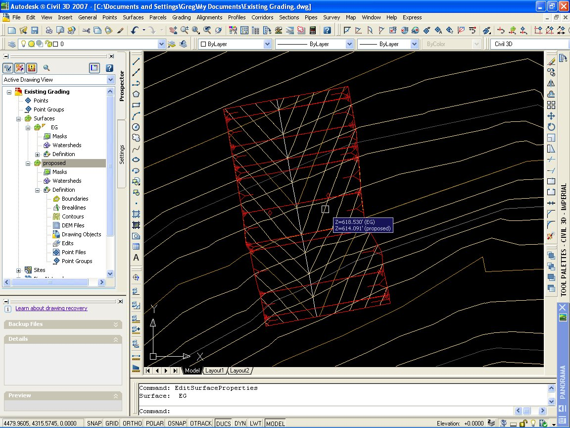 Trying to grade a simple ditch, need some help - Autodesk