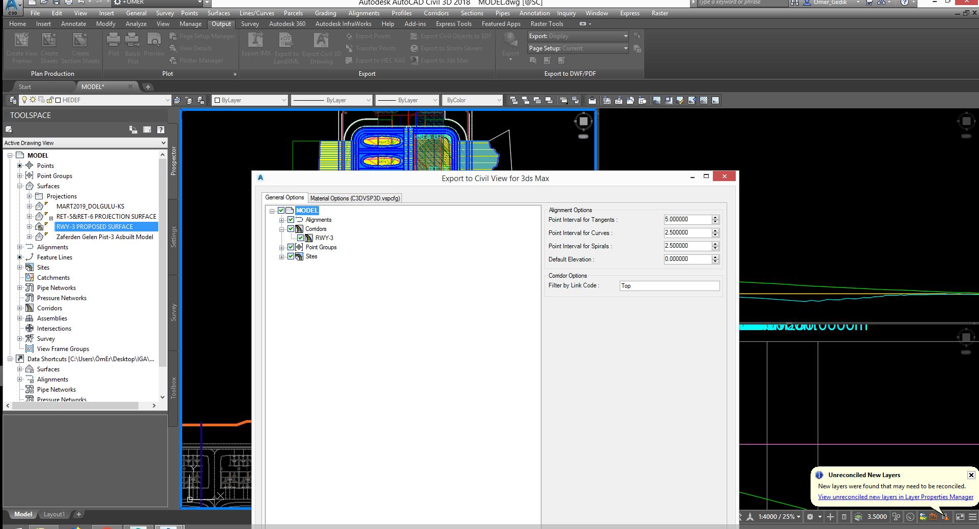 Civil 3D to 3DS Max Export Problem - Autodesk Community- Civil 3D