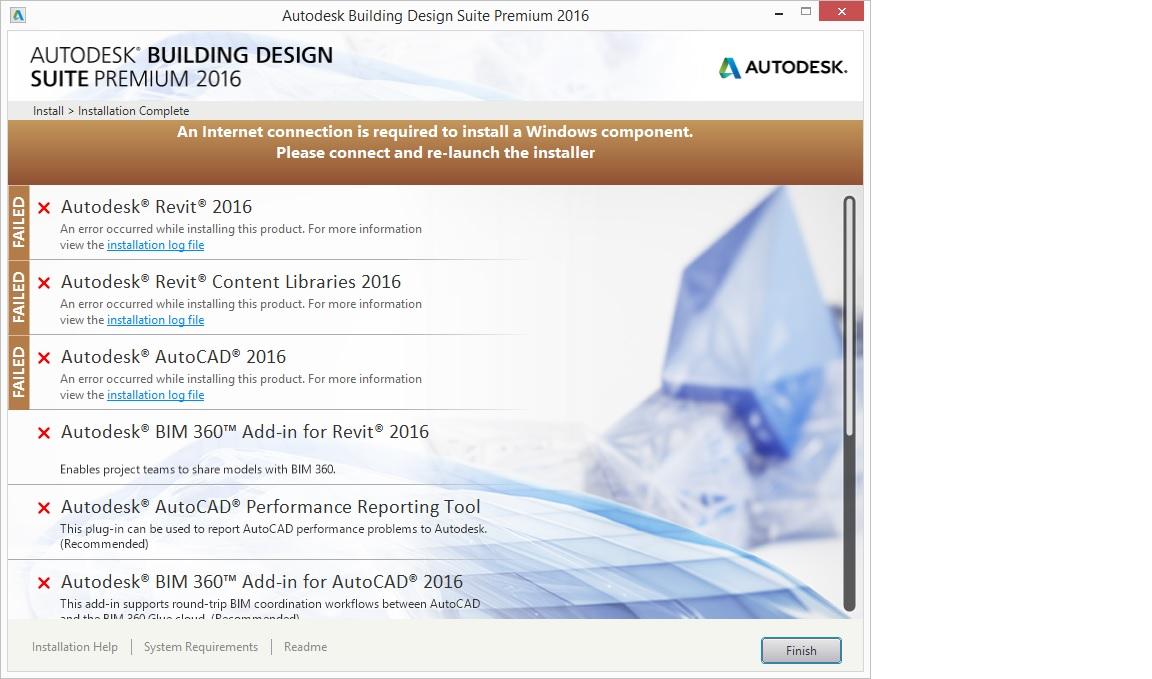 Solved Design Suite 2016 Installation Error Autodesk Community Autocad