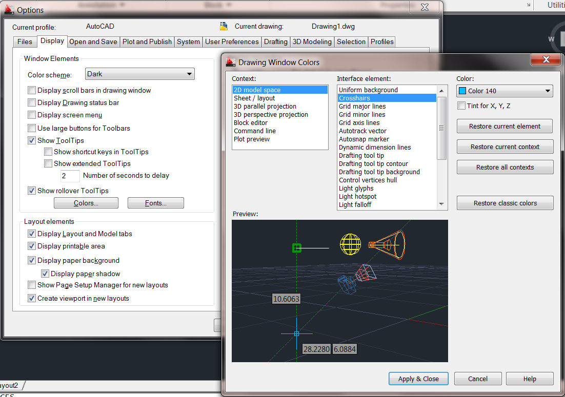 Solved: Invert Crosshair Color in AutoCAD 2011 - Autodesk