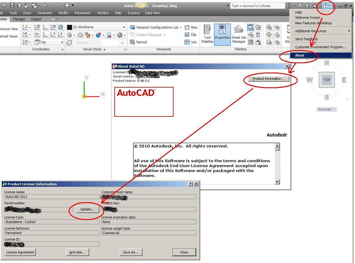 serial number autocad 2010 32 bit