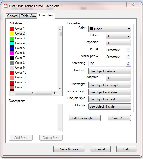 Solved Getting Yellow Lines To Print Like The Other Colors In AutoCAD 2011