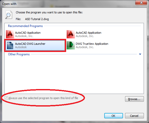 Solved: Opening files from explorer, New AutoCAD every time ...