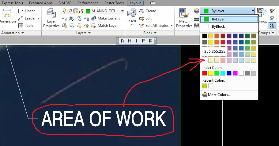 White Color In AutoCAD 108 KB