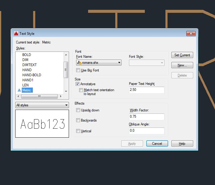 Solved: AutoCAD 2016 Not loading font style Romans shx