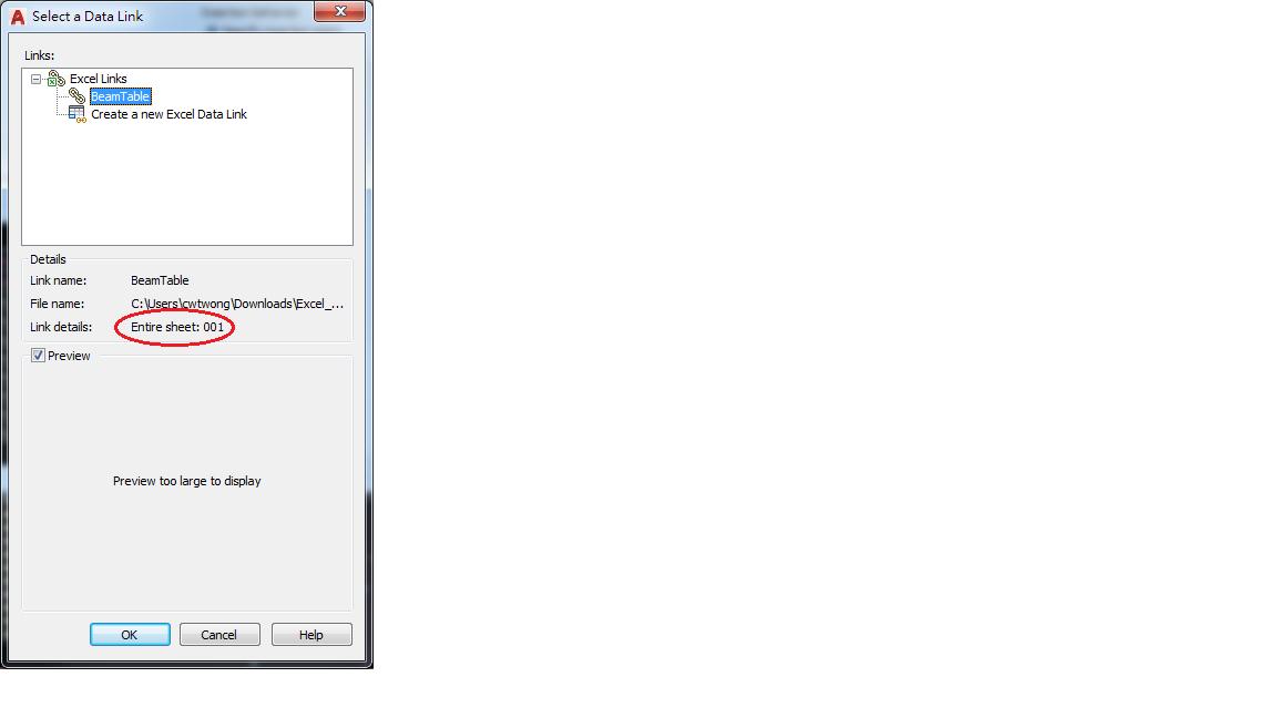 Solved: Edit Cell Range in Excel Data Link Table - Autodesk