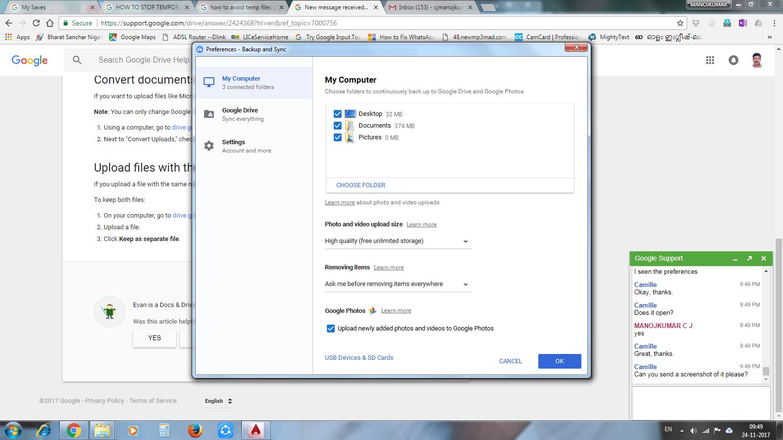 Working with sync folder like google drive folder - Autodesk