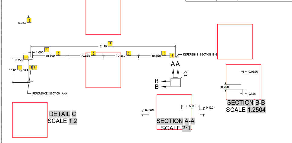 Red Square around Base Views - Autodesk Community- AutoCAD