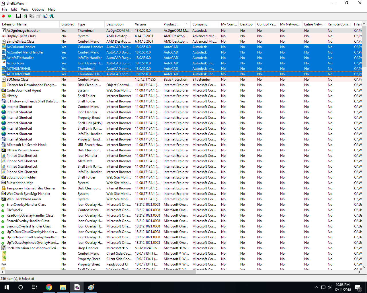 File Explorer crashes in Windows 10 when AutoCad is