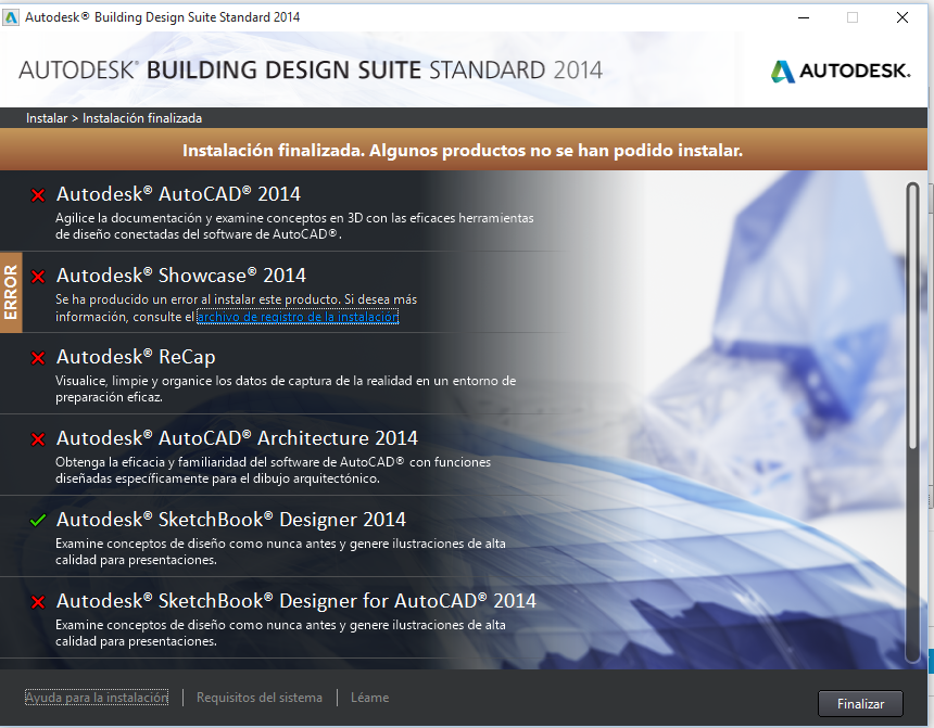 Solved  Problems With The Installation Of Autocad 2014