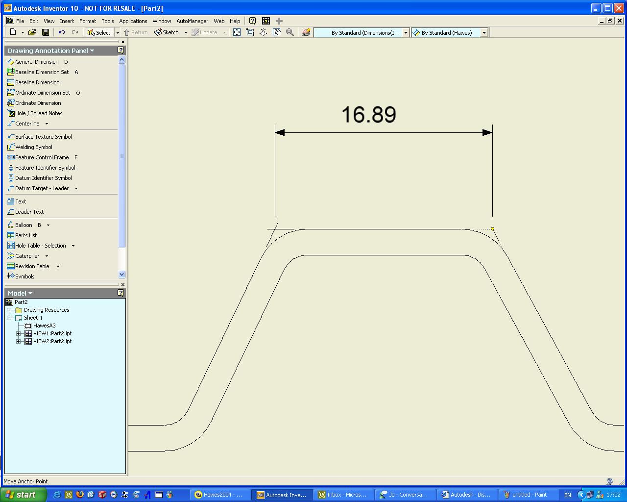 Dim to theoretical intersection - Autodesk Community- Inventor