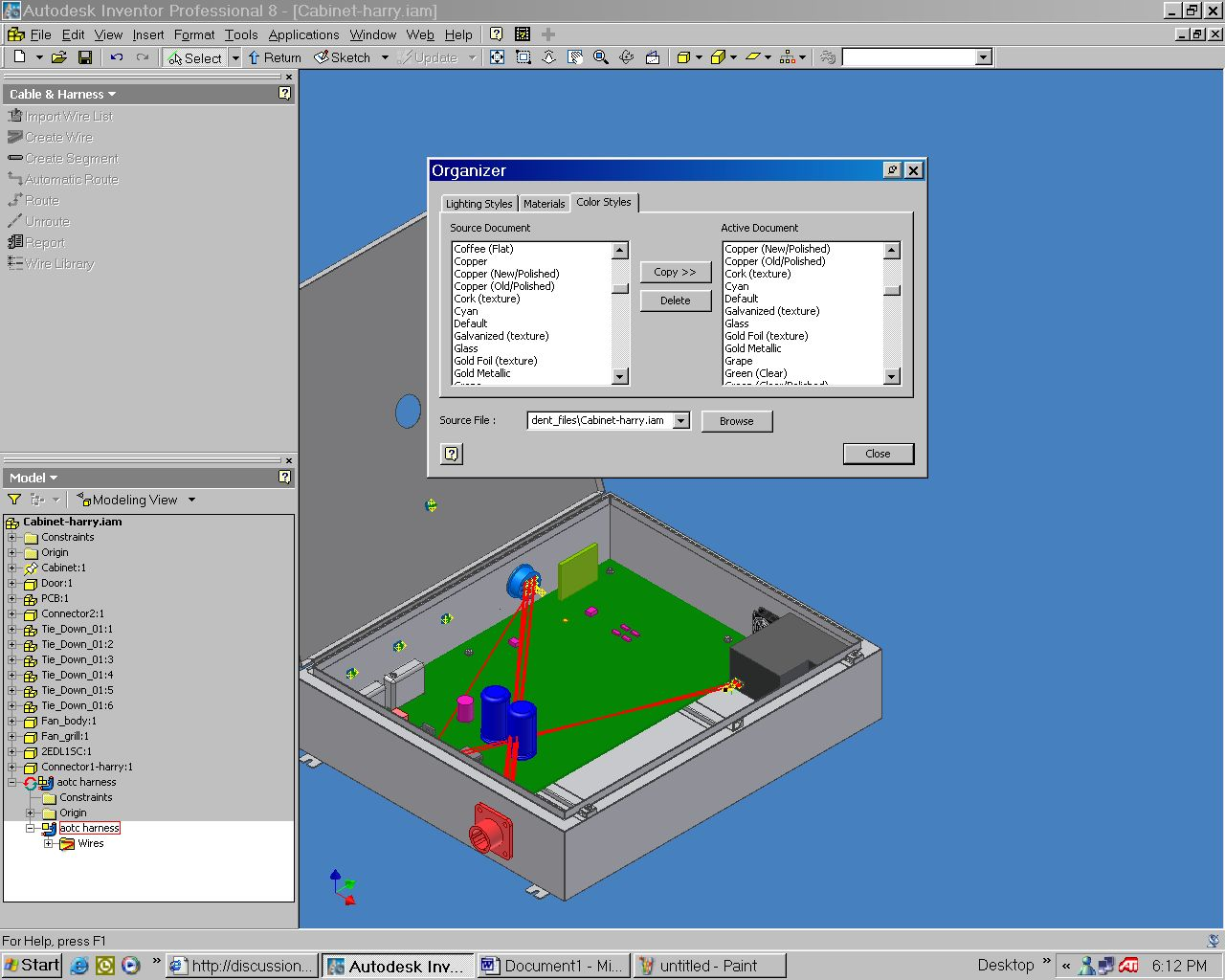 Cable and Harness - Autodesk Community- Inventor