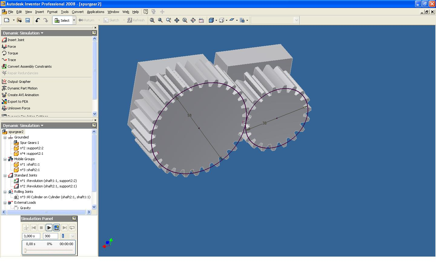 Spur gear dynamic simulation problem autodesk community ccuart Image collections