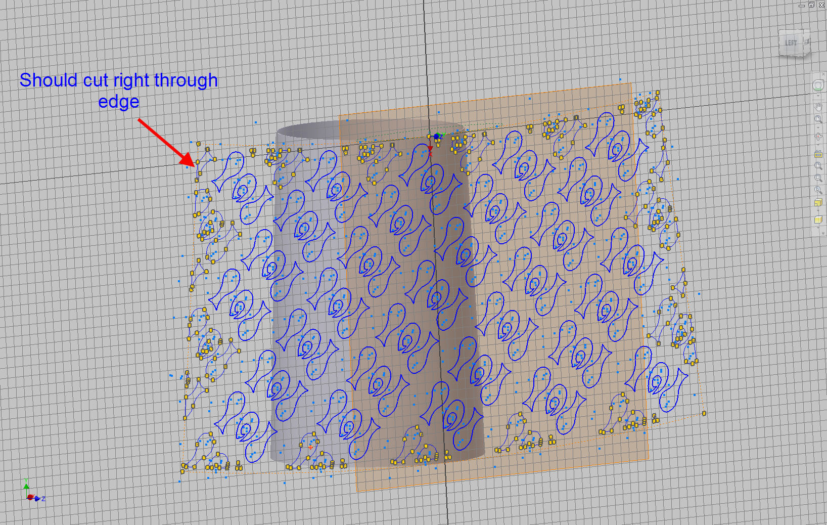 Emboss cut doesn't wrap all the way - Autodesk Community