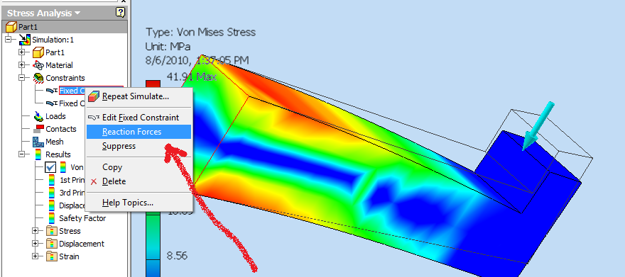 Solved: Stress analysis - displacement instead of force ...