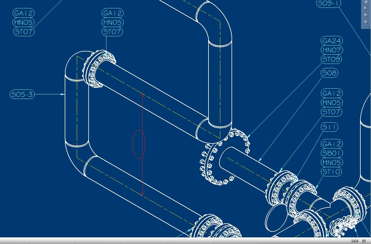 Dimensioning Axes Or Centerlines In Isometric View Autodesk Piping Diagram Symbols Autocad Community Inventor Products