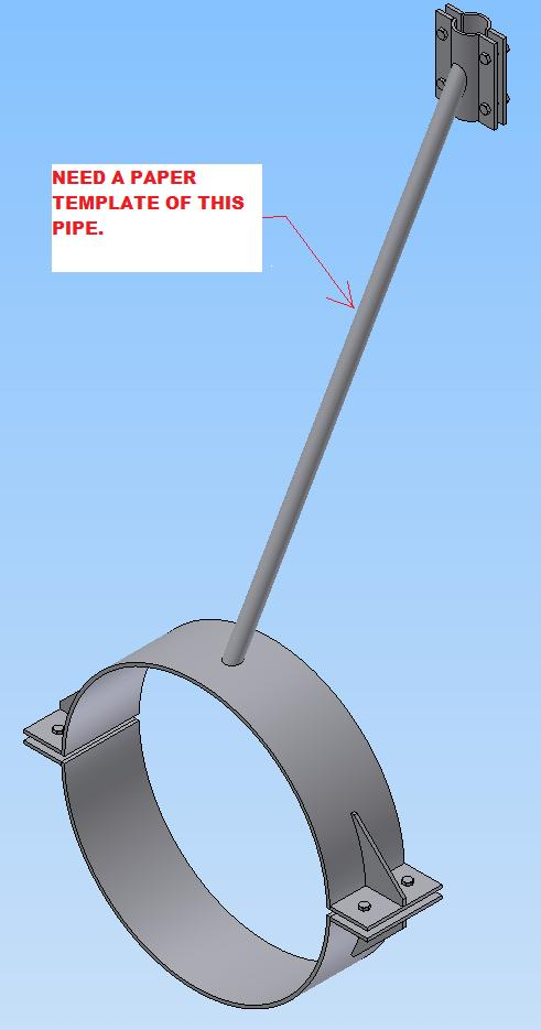 solved paper cutting template for pipe brace autodesk community inventor products
