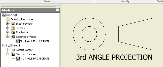 Solved 3rd Angle Projection Symbol Autodesk Community Inventor