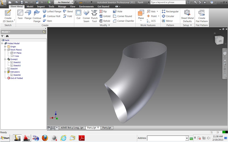 Solved: elbow development - Autodesk Community- Inventor