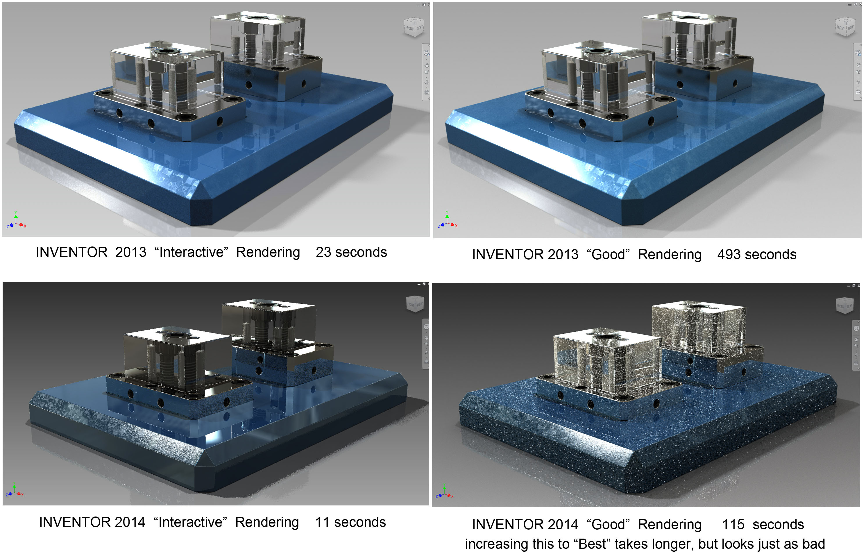 Rendering Images in Inventor Inventor Rendering 2013 vs