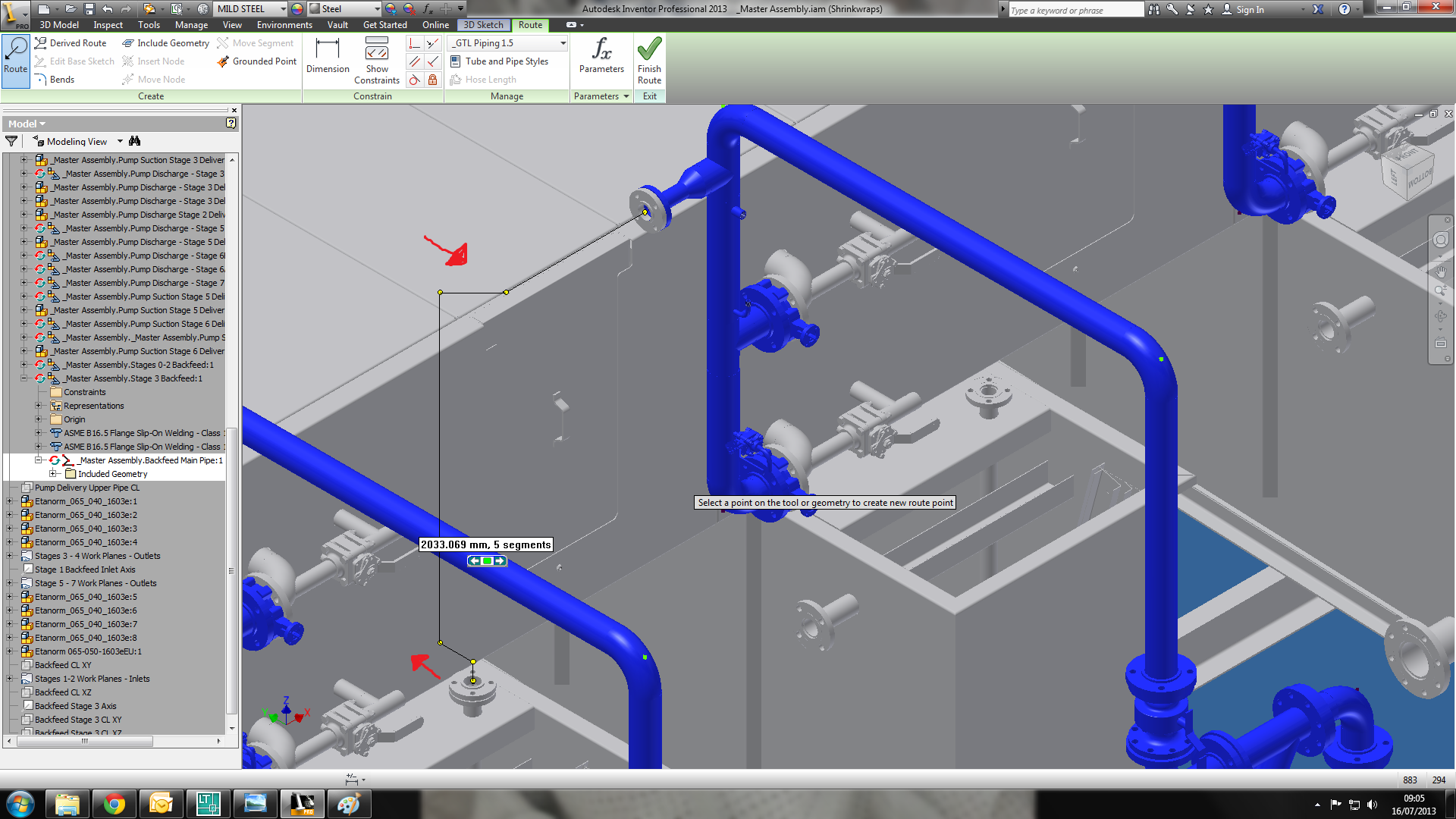 Solved Tube And Pipe Routes Not Running In Straight Lines Piping Line Diagram Autodesk Community Inventor Products